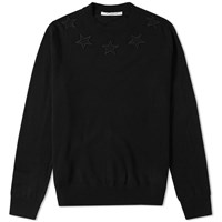 eec92a2203aec Givenchy Star Patch Crew Knit Black