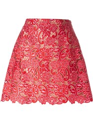 Marco De Vincenzo Embroidered Lace Circle Skirt