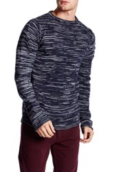 Ron Tomson Long Sleeve Cut Out Sweater Blue