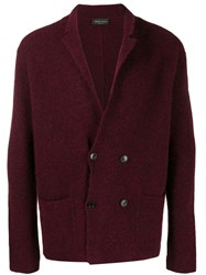 Roberto Collina Knitted Cardigan Red