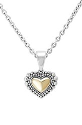 Women's Lagos Two Tone Heart Pendant Necklace