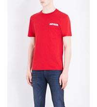 Sandro Reveur Cotton T Shirt Red