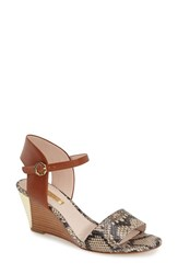Women's Louise Et Cie 'Kami' Printed Wedge Sandal Oxford Snake Leather