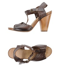 Moma Sandals Dark Brown