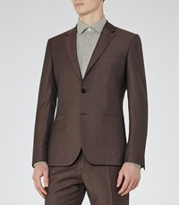 Reiss Hollidge B Mens Single Breasted Wool Blazer In Brown