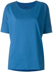 Roberto Collina Loose Fit T Shirt Blue