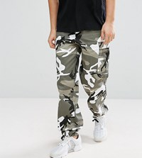 Reclaimed Vintage Revived Camo Cargo Trousers Grey