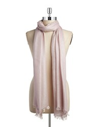 Lord And Taylor Shimmer Frayed Scarf Pink