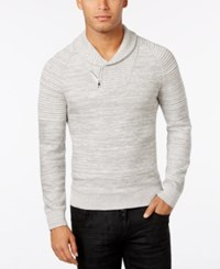 Inc International Concepts Men's Nickelby Marled Shawl Collar Sweater Only At Macy's Light Grey Heather