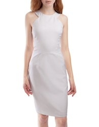 French Connection Solid Halter Dress Summer White