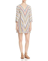 Nic Zoe Chevron Striped Tunic Multi