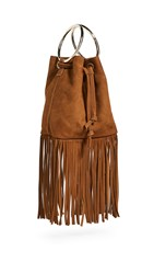 Maison Boinet Medium Fringe Bucket Bag Havana