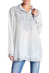 Johnny Was Embroidered Silk Tunic Multi