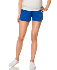 Motherhood Maternity French Terry Shorts Cobalt Blue