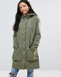 Parka London Dana Lightweight Jacket Khaki Green