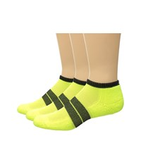 Thorlos 84 N Runner Micro Mini 3 Pack Electric Yellow Black Men's Low Cut Socks Shoes