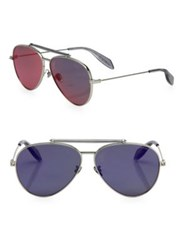 Alexander Mcqueen 62Mm Metal Aviator Sunglasses