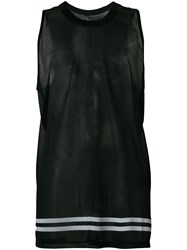 Odeur Oversized Mesh Vest Top Black