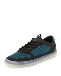 French Connection Carlin Mesh Low Top Sneaker Black Blue