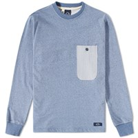 Bleu De Paname Sailor Pocket Crew Sweat Blue