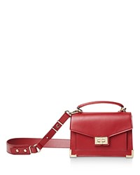 The Kooples Emily Small Leather Satchel Burgundy
