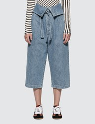 Loewe Belted Pleated Oversize Jeans Blue