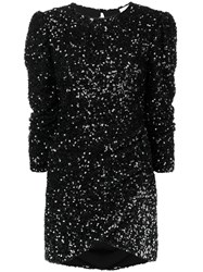 Ainea Sequinned Ruched Dress Black