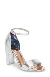 Ted Baker London Phanda Sandal Silver Leather