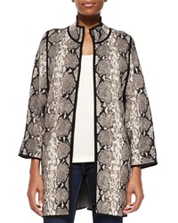 Belford Cashmere Open Front Snake Print Jacket Women's