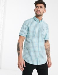 Tom Tailor Short Sleeve Check Shirt White