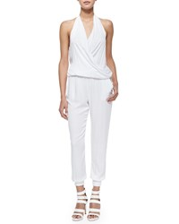 Young Fabulous And Broke Adrianna Halter Jumpsuit White