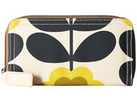 Orla Kiely Summer Flower Stem Big Zip Wallet Sunshine Wallet Handbags Yellow