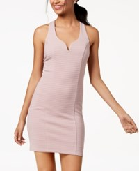 Trixxi Juniors' Ribbed Strappy Back Bodycon Dress Blush