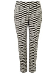 Phase Eight Erica Oval Jacquard Trousers Black Ivory