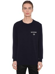Balmain Cashmere And Wool Knit Sweater Black