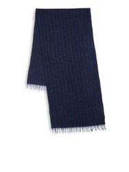John Varvatos Frayed Cashmere Scarf Garnet Midnight Black