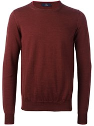 Fay Ribbed Knitted Sweater Red