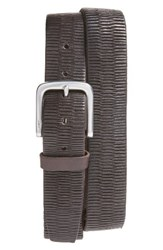 John Varvatos Men's Star Usa Laser Scored Leather Belt Chocolate
