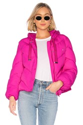 Lovers Friends Lover Hooded Puffer Jacket Pink