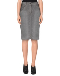 Richmond Denim Knee Length Skirts Grey