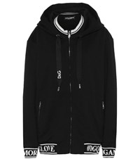 Dolce And Gabbana Cotton Jersey Hoodie Black