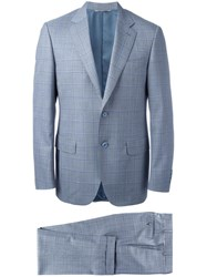 Canali Plaid Two Piece Suit Grey