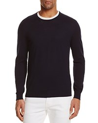 Bloomingdale's The Men's Store At Cotton Blend Crewneck Sweater True Navy