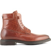 Kurt Geiger Felippo Leather Lace Up Boots Brown