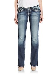 Vigoss Ny Sequined Bootcut Jeans Dark Wash