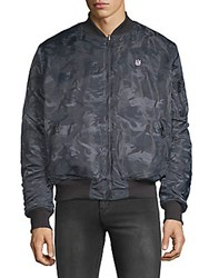 Cult Of Individuality Reversible Camo Bomber Grey