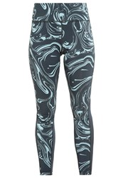 Nike Performance Power Epic Lux Tights Seaweed Reflective Silver Green