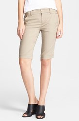 Women's Vince Side Buckle Bermuda Shorts Khaki