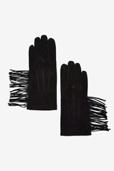 Dylan Suede Gloves Black
