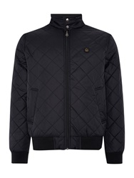 Merc Casual Quilted Full Zip Harrington Jacket Black